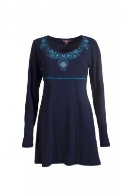 Robe chic ethnique originale, imprimé médaillon coloré