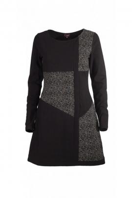 Robe originale et colorée, style art contemporain, manches longues