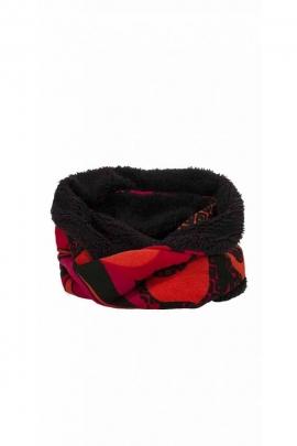 Écharpe style snood colorée, en tube, doublée avec de la fourrure