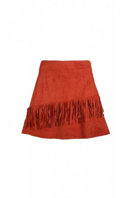 Short skirt original fringes, Indian style of America