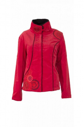 Original Jacket embroidered flush velvet collar, lined faux wool