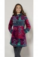 Manteau chic pour femme, longueur trois quart, motifs colorés patchwork