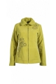 Veste polaire cintrée, broderie fleurie, avec poches kangourou et col montant
