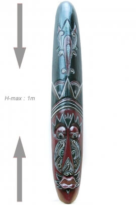 Máscara de la pared primitivo original tallado en madera de indonesia tribales motivo