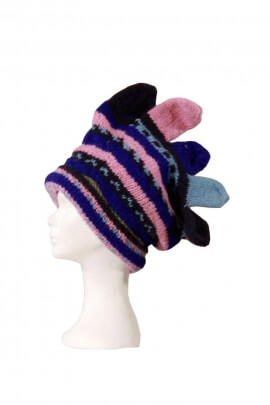 Original Peruvian hat, wool, glove style