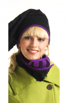 Original bufanda en caché cuello, forrado y con botones, estilo hippie chic