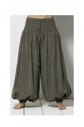 Original, striped, casual, cotton trousers