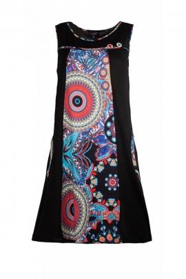 Robe courte décontractée et originale sans manches, imprimé mandala aux couleurs japonisantes