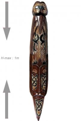 Máscara de la pared primitivo para la decoración del hogar, de madera tallada patrón tribal celta