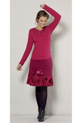 Falda, medio largo, original de estilo charleston, elástico en la cintura, ambiente retro