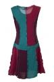 Robe décontractée avec assemblage des pièces de tissus en surjet, style balladin