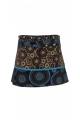 Minijupe d'hiver en coton, hippie chic, réglages pressions et poche côté
