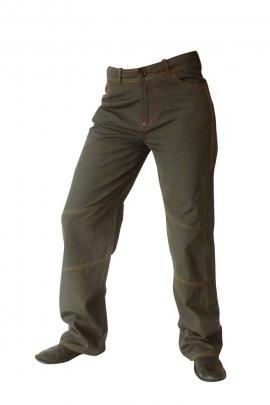 Pantalon en coton pour homme, broderie effet tribal à l'arrière