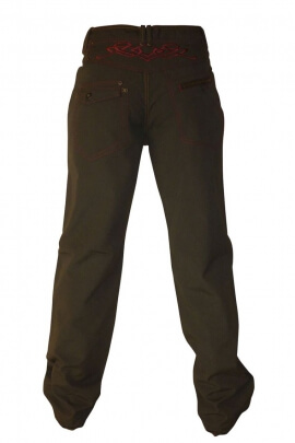 Cotton sweatpants for men, embroidery effect tribal on the back