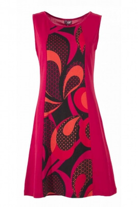 Dress seventies original, sleeveless, silhouette enchanting