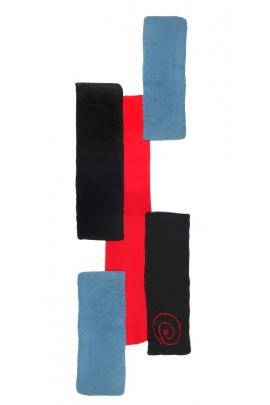Écharpe à patch, motif spiral coloré et original