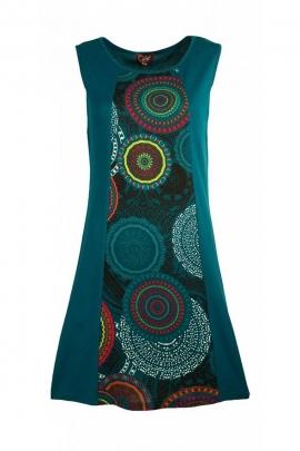 Robe chic et décontractée, courte, motif mandala coloré
