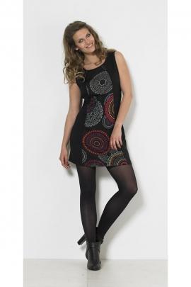 Dress chic and casual, short, motif, mandala colorful