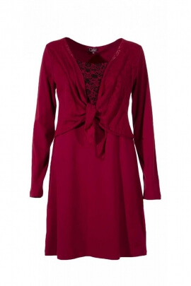 Colorful dress with long sleeves, bolero bohemian original