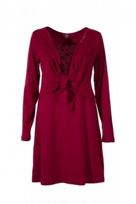 Robe colorée à manches longues, effet boléro bohème originale