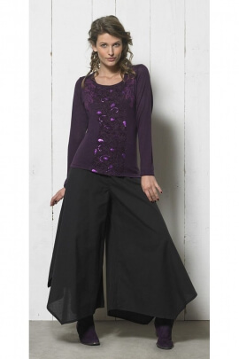 T-shirt with sequins long sleeve, modern and trendy