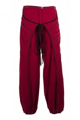 Pantalon bouffant paréo indien, original, en velours