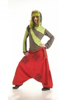 Harem pants original fork bass, ethnic embroidered