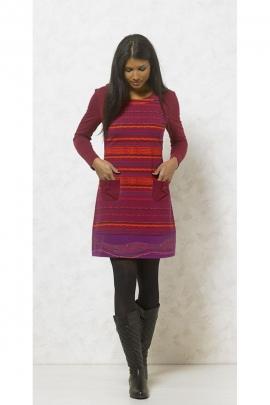 Robe manches longues décontractée, imprimé harmonie indien