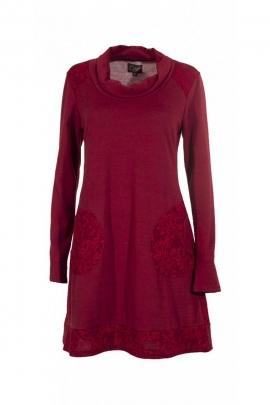 Dress original casual long sleeve, printed stucco oriental