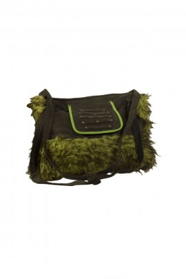 Bag original fake fur, style, hippie chic