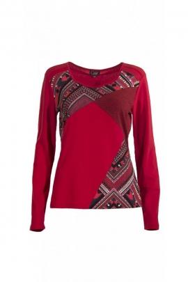 Tee-shirt effet vitrail contemporain, patchwork, imprimé géométrique