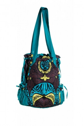 Bag purse tote large-capacity, printed ethnic