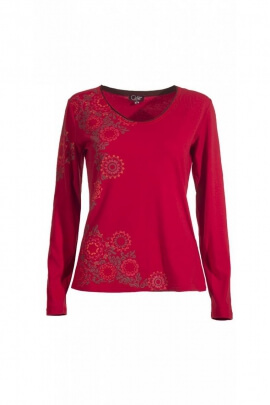 Tee-shirt urbain et décontracté, à manches longues, motifs floraux