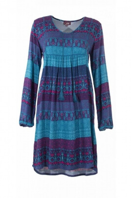 Style dress bohemian casual and elegant, printed original