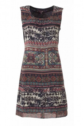Pretty black dress-chic, and original, ethnic style Printed ice vintage