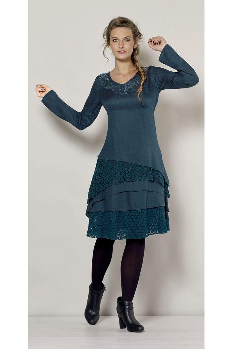 1f428e87d Vestido boho chic original, con encajes y bordados, casual