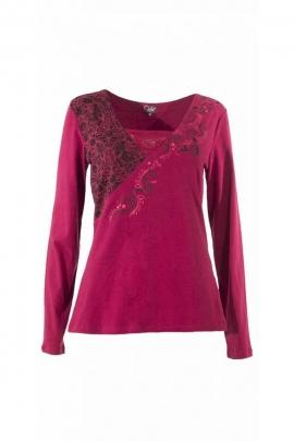 Tee-shirt cœur amazone original, imprimé stuc et arabesques coloré