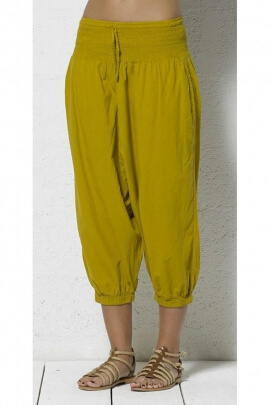 Harem pants capri cotton kingdom, with elastic, comfortable and cocooning