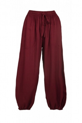 Pantalon bouffant original et uni, ample, léger et décontracté