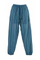 Pants cuffed striped, lightweight cotton, casual, man or woman, Nepal