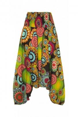 Sarouel 3 en 1 transformable en coton, original et coloré, imprimé spiral