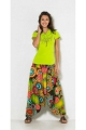 Harem pants 3 in 1 convertible cotton, original and colorful, printed spiral