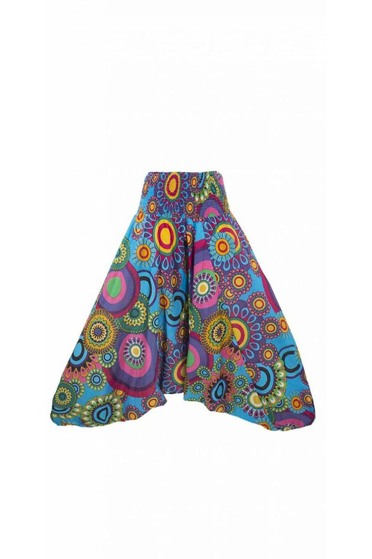 8103305555418 ... Harem pants 3 in 1 convertible cotton, original and colorful, printed  spiral