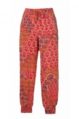 Pantalon fuseau été, style décontracté, motifs exotiques plages colorés