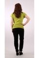 Tee-shirt stylé ethnique et décontracté, col rond large et surpiqûres, en coton