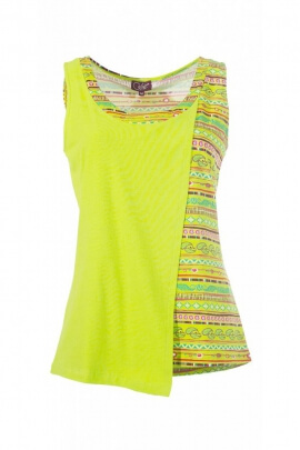 Top tank top stylish, asymmetric, printed ethnic original