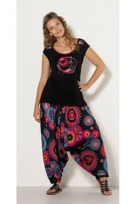 Tee-shirt casual for women, fluid, printed grabs dream at the center