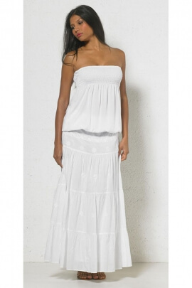 Top strapless kingdom for woman, feminine and lightweight, viscose, cuffed