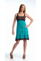 Dress casual, original, shoulder straps, patterns, flowers and ruffles