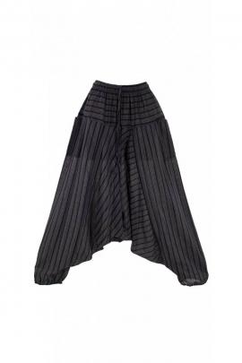 Pantalones Harem original de rayas, estilo hippie, de algodón, Nepal